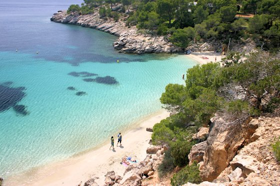 Ibiza Karte Strande.Ibiza Strand Cala Salada